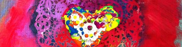 Katy's Heart Painting