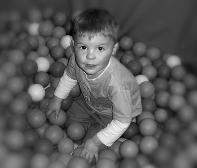 Toddler Ball-pool Fun_B&W