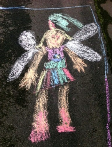 Colourful Chalk Fairy